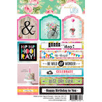 Websters Pages - Make a Wish Collection - Cardstock Stickers - Tag and Prompt