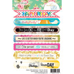 Websters Pages - Make a Wish Collection - Cardstock Stickers - Sentiment