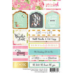 Websters Pages - Painted Passport Collection - Cardstock Stickers - Tag and Prompt