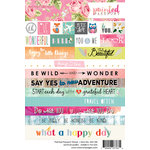 Websters Pages - Painted Passport Collection - Cardstock Stickers - Word