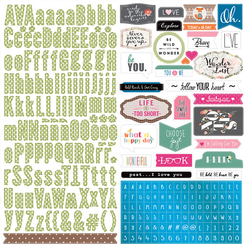 Websters Pages - Painted Passport Collection - 12 x 12 Cardstock Stickers