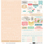 Websters Pages - Love Story Collection - 12 x 12 Cardstock Stickers