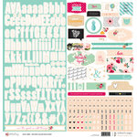 Websters Pages - A New Day Collection - 12 x 12 Cardstock Stickers