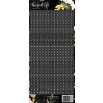 Websters Pages - The Good Life Collection - Cardstock Stickers - Letters - Black