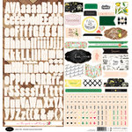 Websters Pages - The Good Life Collection - 12 x 12 Cardstock Stickers