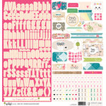 Websters Pages - My Happy Place Collection - 12 x 12 Cardstock Stickers
