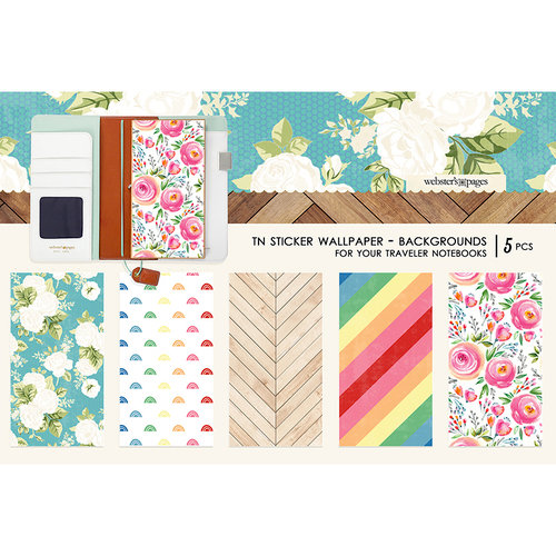 Websters Pages - Changing Colors Collection - Travelers Notebooks - Sticker Wallpaper - Backgrounds