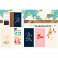 Websters Pages - Changing Colors Collection - Travelers Notebooks - Sticker Wallpaper - Quotes
