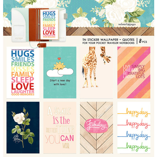 Websters Pages - Changing Colors Collection - Pocket Traveler - Sticker Wallpaper - Quotes