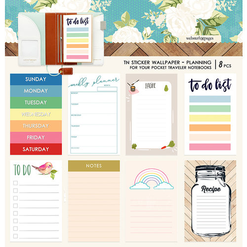 Websters Pages - Changing Colors Collection - Pocket Traveler - Sticker Wallpaper - Planning