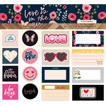Websters Pages - Love is in the Air Collection - Sticker Ephemera Pack