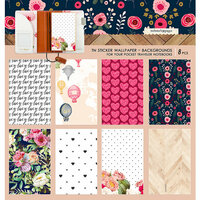 Websters Pages - Love is in the Air Collection - Pocket Traveler - Sticker Wallpaper - Backgrounds