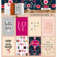 Websters Pages - Love is in the Air Collection - Pocket Traveler - Sticker Wallpaper - Quotes
