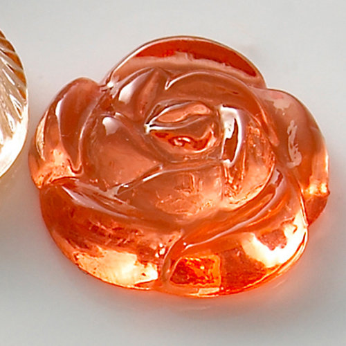 Websters Pages - Sparklers - Non Adhesive Designer Buttons - Rose and Pearl - Rose Salmon