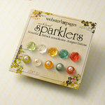 Websters Pages - Sparklers - Non Adhesive Designer Buttons - Assorted Rose and Pearl 2