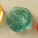 Websters Pages - Sparklers - Non Adhesive Designer Buttons - Rose - Aqua