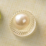 Websters Pages - Sparklers - Non Adhesive Designer Buttons - Pearl - Clear