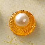 Websters Pages - Sparklers - Non Adhesive Designer Buttons - Pearl - Gold