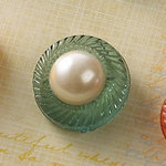 Websters Pages - Sparklers - Non Adhesive Designer Buttons - Pearl - Aqua
