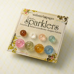 Websters Pages - Sparklers - Non Adhesive Designer Buttons - Medallion - Variety