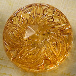 Websters Pages - Sparklers - Non Adhesive Designer Buttons - Medallion - Large - Gold