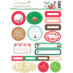 Websters Pages - Gingerbread Village Collection - Christmas - Memory Pockets and Labels Kit