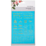 Websters Pages - Color Crush Collection - Faux Leather Stickers - Words - Teal