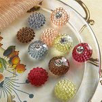 Websters Pages - Sparklers - Non Adhesive Designer Buttons - Assorted Scalloped 2