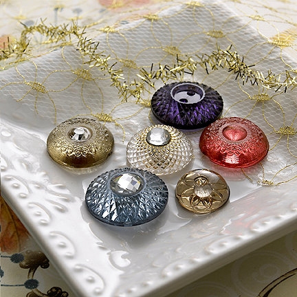 Websters Pages - Sparklers - Non Adhesive Designer Buttons - Assorted Vintage 2