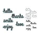 We R Memory Keepers - Die and Clear Acrylic Stamps Set - Hello
