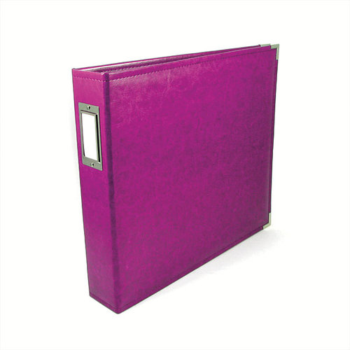We R Memory Keepers - Classic Leather - 8.5 x 11 - Three Ring Albums - Plum