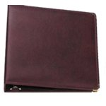 Hiller 3 Ring Albums - 12 x 12 Deep Burgundy