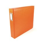 We R Memory Keepers - Classic Leather - 12 x 12 - Three Ring Albums - Orange Soda