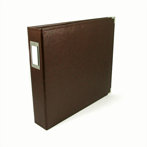We R Memory Keepers - Classic Leather - 8.5 x 11 - Three Ring Albums - Dark Chocolate