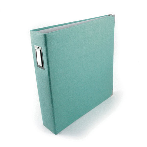We R Memory Keepers - Linen - 12 x 12 - Three Ring Albums - Aquamarine