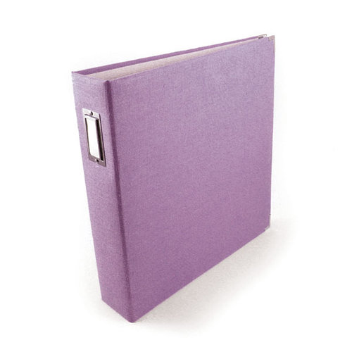 We R Memory Keepers - Linen - 8 x 8 - Three Ring Albums - Grape Ice