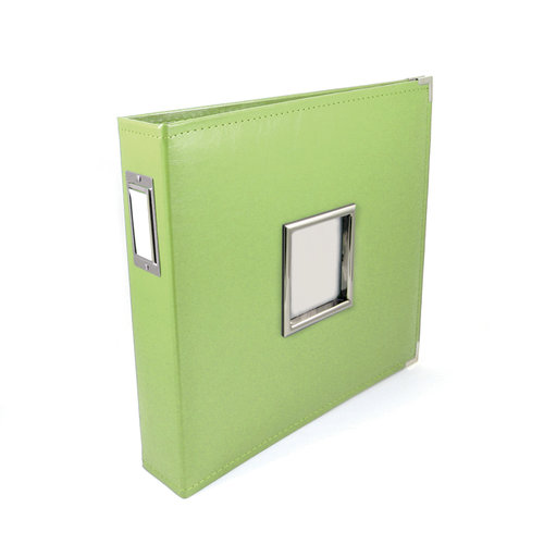 We R Memory Keepers - Classic Leather - 12 x 12 - Three Ring Albums with Window - Kiwi