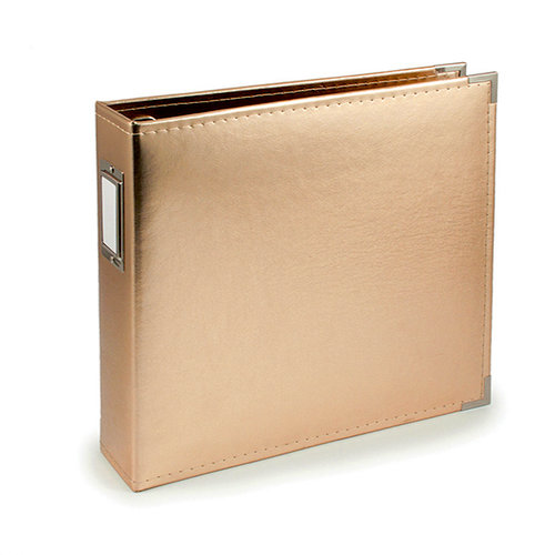 We R Memory Keepers - Classic Leather - 12 x 12 - Three Ring Albums - Gold