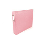 We R Memory Keepers - Classic Leather - 6 x 6 - Two Ring Albums - Pretty Pink