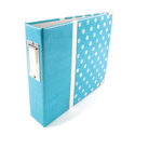 We R Memory Keepers - Retrospect Collection - 6 x 6 - Two Ring Albums - Aqua Dots