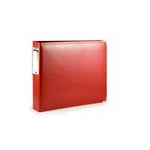 We R Memory Keepers - Albums Made Easy - Classic Leather - 4 x 6 - Two Ring Albums - Red