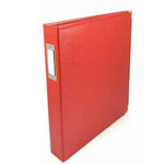 We R Memory Keepers - Albums Made Easy - Classic Leather - 6 x 12 - Three Ring Albums - Red