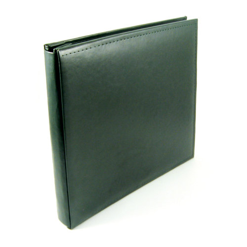 We R Memory Keepers - Classic Leather - 12 x 12 - Post Bound Albums - Forest Green
