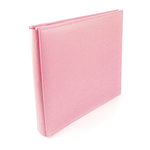 We R Memory Keepers - Classic Leather - 12x12 - Post Bound Albums - Pretty Pink
