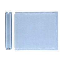 We R Memory Keepers - Classic Leather - 8x8 - Post Bound Albums - Baby Blue