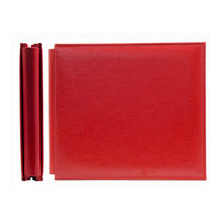 We R Memory Keepers - Classic Leather - 8x8 - Post Bound Albums - Real Red