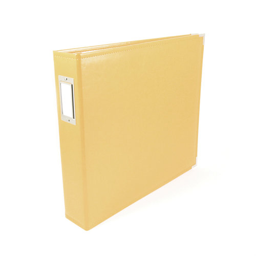 We R Memory Keepers - Classic Leather - 12x12 - Three Ring Albums - Buttercup