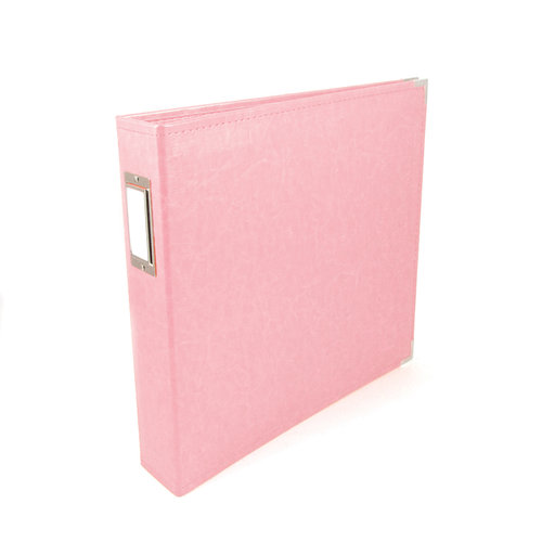 We R Memory Keepers - Classic Leather - 12x12 - Three Ring Albums - Pretty Pink