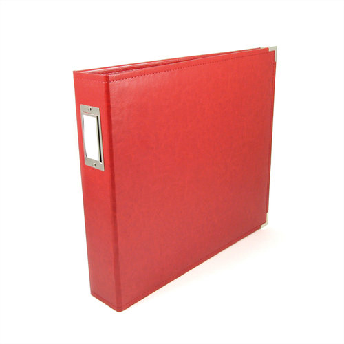 We R Memory Keepers - Classic Leather - 12x12 - Three Ring Albums - Real Red