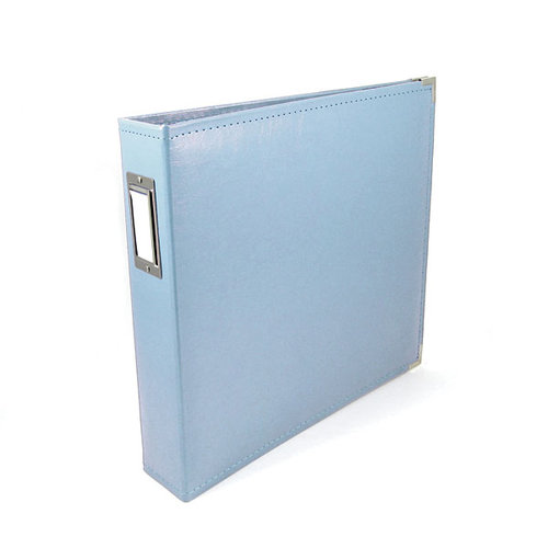 We R Memory Keepers - Classic Leather - 8.5x11 - Three Ring Albums - Baby Blue